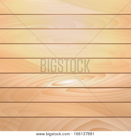 Realistic wooden background. Planks. Template for design