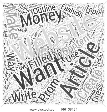 How to Make Money Creating a Content Filled Website Word Cloud Concept