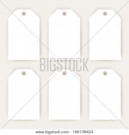Gift Labels Empty Mockup. Vector Illustration of Blank Consumerism Design for Shopping Promotion.
