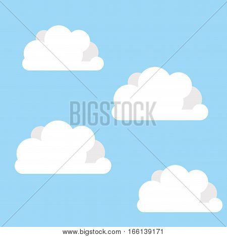 Sky with clouds icon vector illustration graphic design