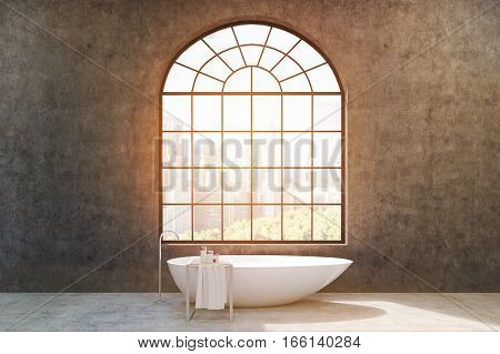 Bathroom With Concrete Walls, Toned