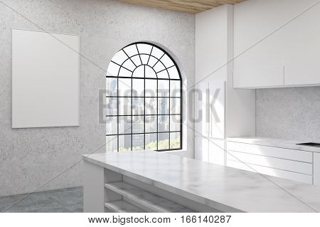 Kitchen With Arc Shaped Window