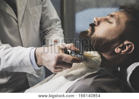 Man During Shaving