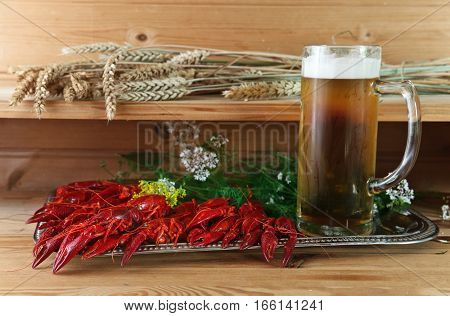 Boiled Crayfish With Cold Beer