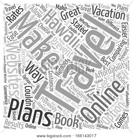 How to Make Your Hawaii Travel Plans Word Cloud Concept