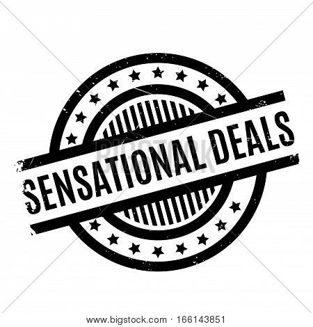 Sensational Deals rubber stamp. Grunge design with dust scratches. Effects can be easily removed for a clean, crisp look. Color is easily changed.