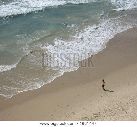 Woman On Beautiful Beach