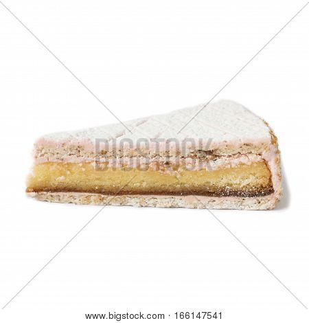 Piece of cake. Isolated on white background.