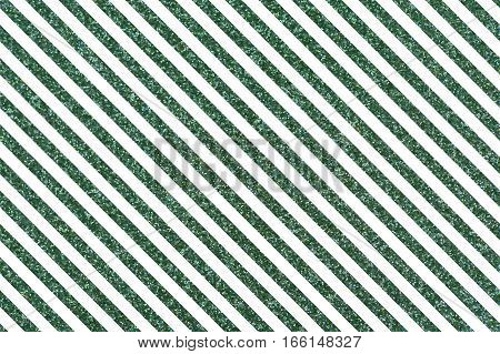Slanted glittery lines. Rectangular orientation. Diagonal green stripes of glitter