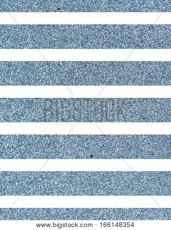 Wide glittery blue lines on a white background. The texture of the glitter. Rectangular, vertical