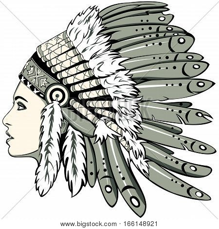 Girl With Indian Headdress