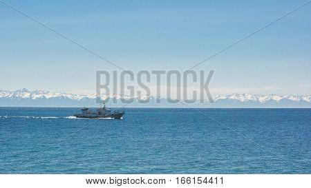 Beautiful day summer Landscape at Lake Baikal
