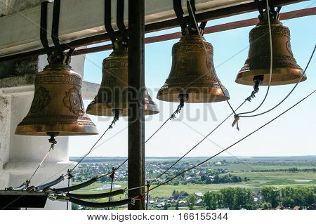 Bells of the Venerable bell tower,  Russia, Suzdal