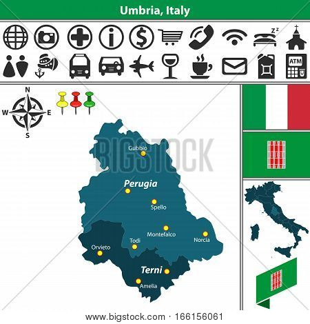 Umbria With Regions, Italy