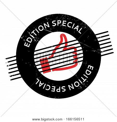 Edition Special rubber stamp. Grunge design with dust scratches. Effects can be easily removed for a clean, crisp look. Color is easily changed.