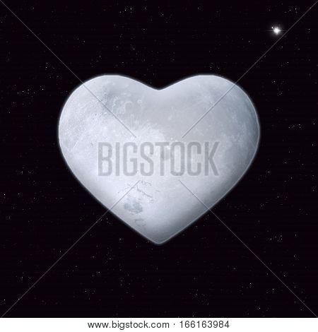 Heart Shape Moon