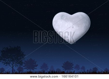 Valentine Mood At Night