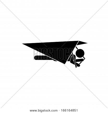 Hang gliding extreme sport icon vector illustration graphic design