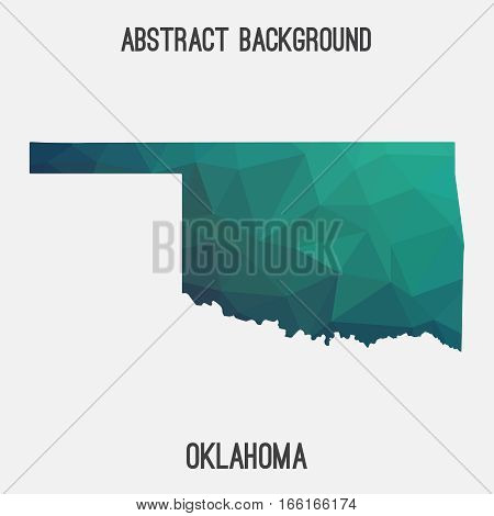 Oklahoma map in geometric polygonal style.Abstract tessellation,modern design background. Vector illustration EPS8 poster
