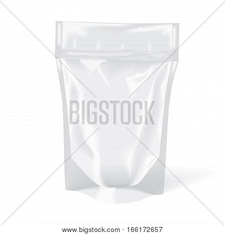 Plastic Bag Stand Up Pouch Zipper Transparent Mock-up Package Empty