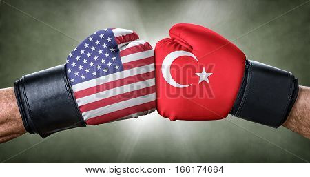 A Boxing Match Between The Usa And Turkey