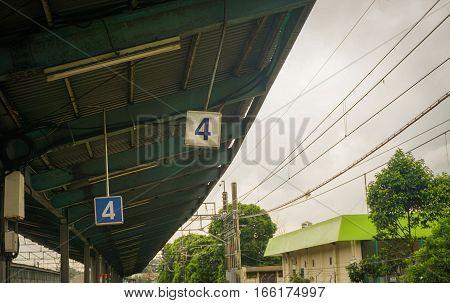 Peron number 4 at Pasar Minggu station photo taken in Jakarta Indonesia java