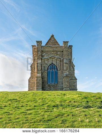 St.Catherine's Chapel on a hillside in the village of AbbotsburyDorsetUK.