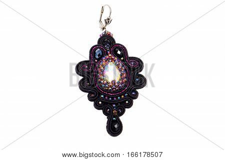 beautiful designer jewelry handmade isolated on white background