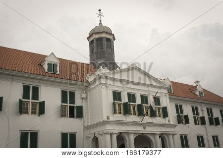 Kota Tua Museum Building as on of local heritage with cloudy sky as background photo taken in Jakarta Indonesia java