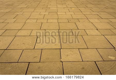 Brown pavement block texture photo taken in Jakarta Indonesia java