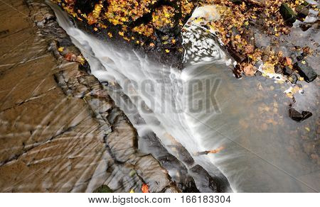 A view from above the waterfall in a Dunfermline park