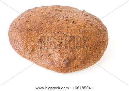 Bread Cake With Thymine Isolated On White Background.