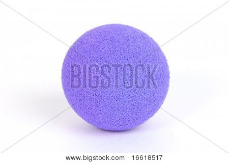 studio shot of a bright rubber ball