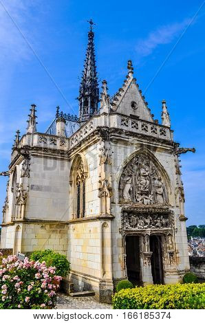 Hdr Saint Hubert Chapel At Royal Chateau At Amboise