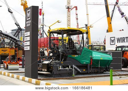 ISTANBUL, TURKEY - JUNE 3, 2016:International exhibition of construction equipment, spare parts and accessories Expo in Istanbul Expo Center. Istanbul. Turkey - 2016