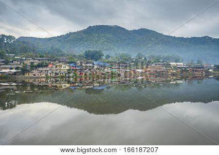 Riverside view at Rak Thai Village, Mae hong son, Thailand