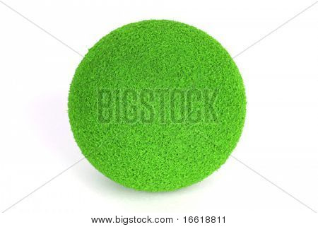 vivid apple green round ball