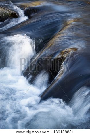 nature background detail rapids on the river