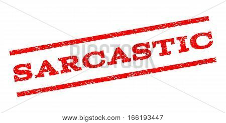 Sarcastic watermark stamp. Text caption between parallel lines with grunge design style. Rubber seal stamp with scratched texture. Vector red color ink imprint on a white background.