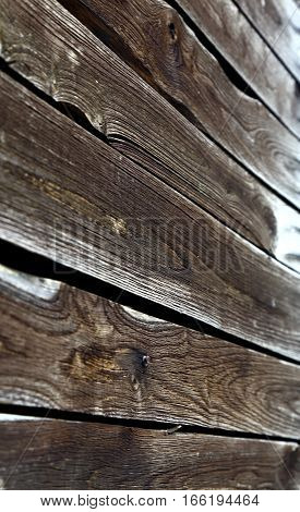 Old ruined wooden planks from the time