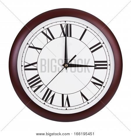 Three o'clock on a big round dial