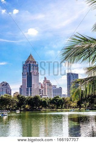 Bangkok, Thailand - November 27, 2016 : Lumpini Park