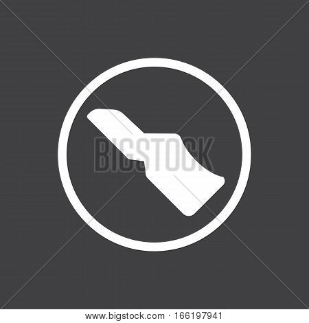 Vector illustration of a sign on the car dashboard on a gray background. The icon indicates press the clutch pedal. Design of button