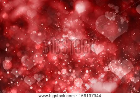 Background for celebration valentine day with red hearts
