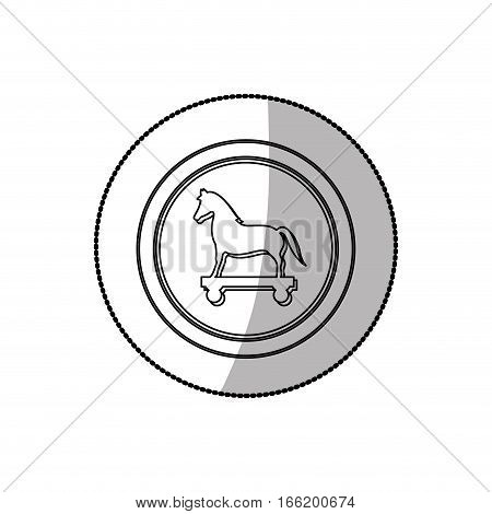 Security system technology trojan horse icon vector illustration graphic design