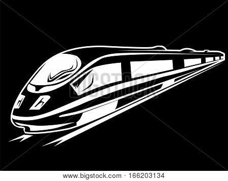 Electro Train Isolated On Black