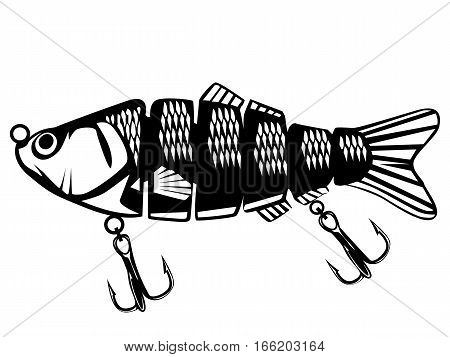 Fishing Lure Isolated On White