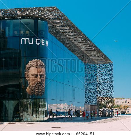 Marseille, France  - June 30, 2015: MUCEM, civilizations museum of Europe and the Mediterranean