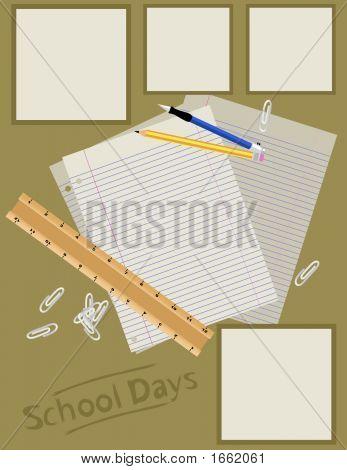 Scrapbook Page Layout - School Days
