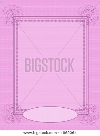 Scrapbook Page Layout - Pink Swirl